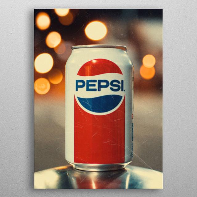 Vintage Pepsi Cola Can metal poster