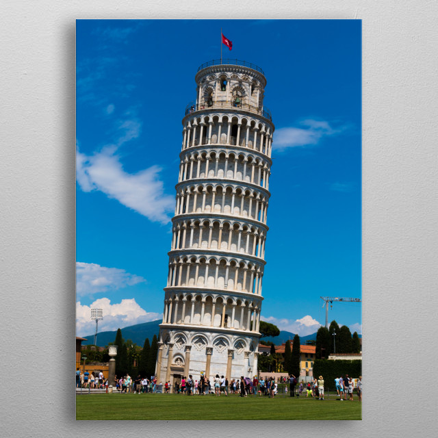 The Leaning Tower of Pisa metal poster