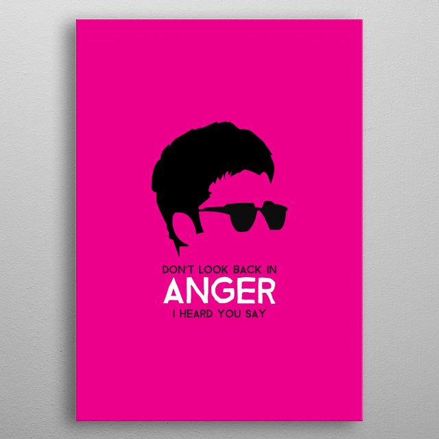 Noel Gallgher - Don't look back in anger on Magenta. metal poster