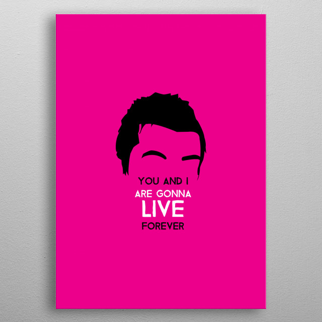 Liam Gallagher - Live Forever on Magenta. Minimalist art of one of the most iconic musicians from England. metal poster