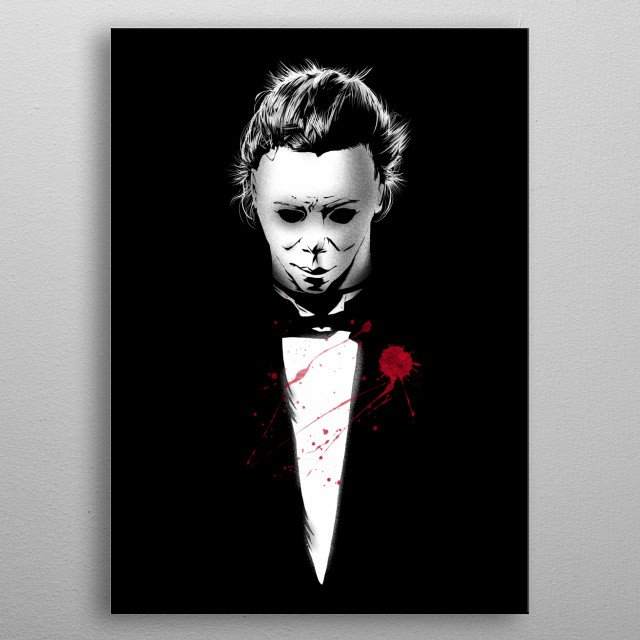 Halloween + The Godfather metal poster
