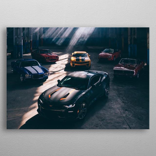 Camaro Generations metal poster