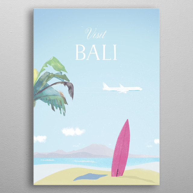 An awesome destination for a wonderful vacation! metal poster