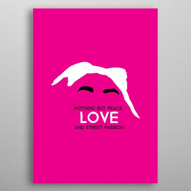 Tupac Shakur minimalist pop art style metal poster