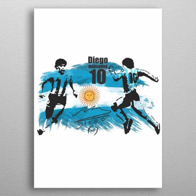 Diego Vs Diego Corel Stencil Vector Design  metal poster