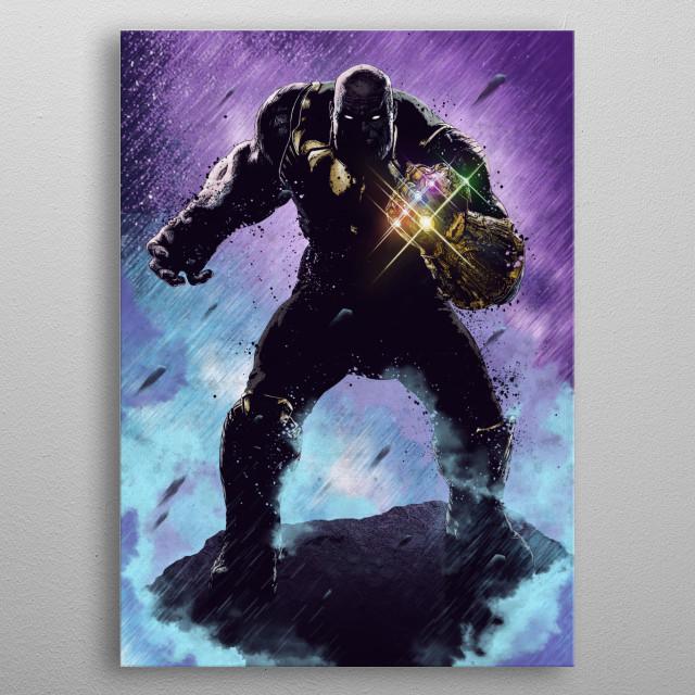 Thanos metal poster