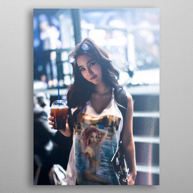 Popular One Championship Korean Ring Girl LEE JINA metal poster