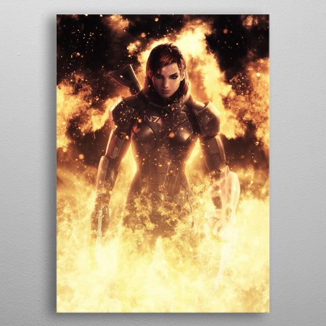 Commander Jane Sheppard  metal poster