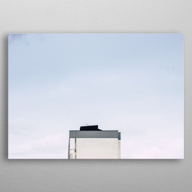 Minimalist photography in Stockholm metal poster