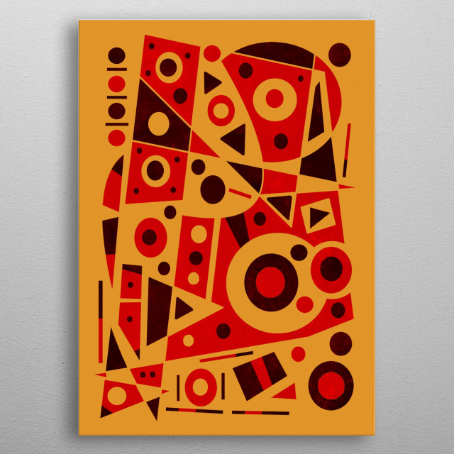 Abstract design by R. Trickett. metal poster