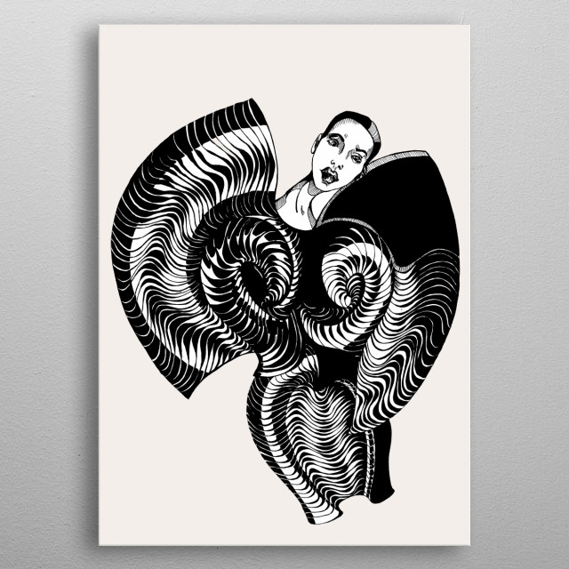 Fascinating metal poster designed by Vytaute Lastauskaite. Displate has a unique signature and hologram on the back to add authenticity to each design. metal poster