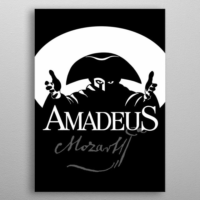 Mozarte-Amadeus-Music-Classical-Piano-Composor-Musician metal poster