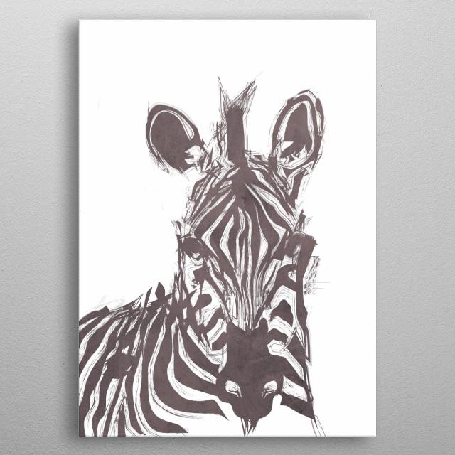 zebra metal poster