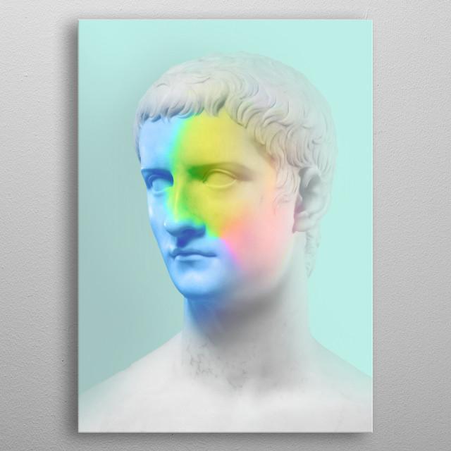 tyenditi, vapor wave, @dorianlegret metal poster