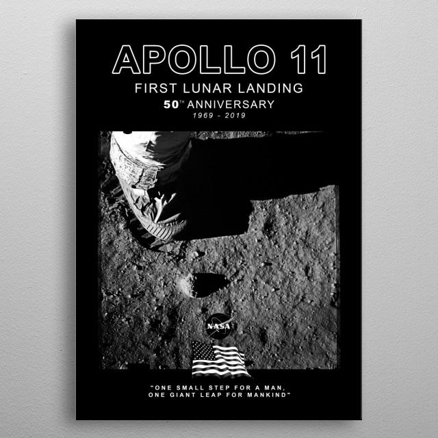 Apollo 11-50th Anniversary,Logo,Lunar Landing,Moon.Space 6 metal poster
