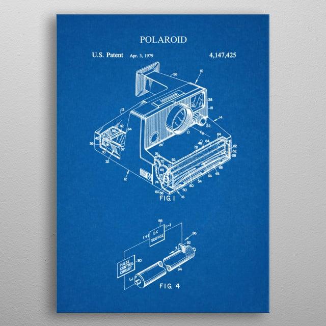 1979 Polaroid - Patent metal poster