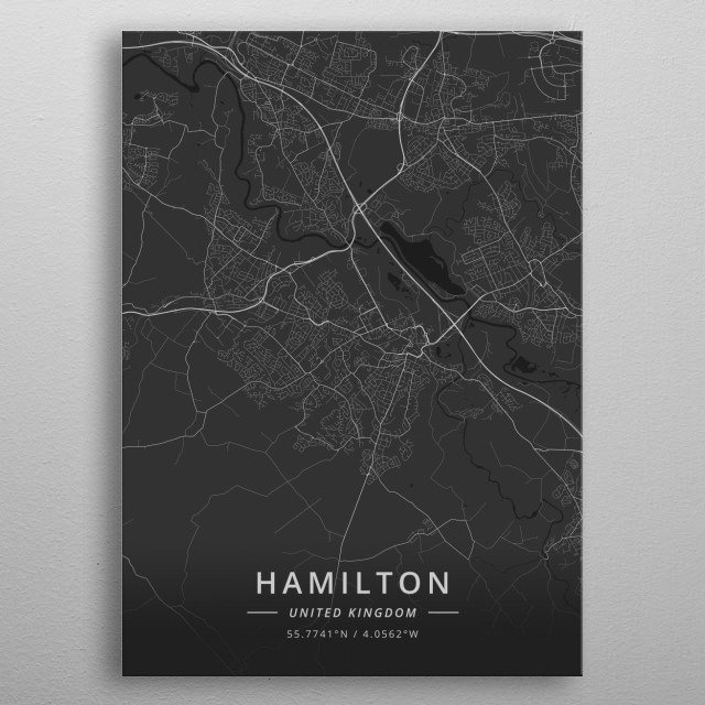 Hamilton, United Kingdom metal poster