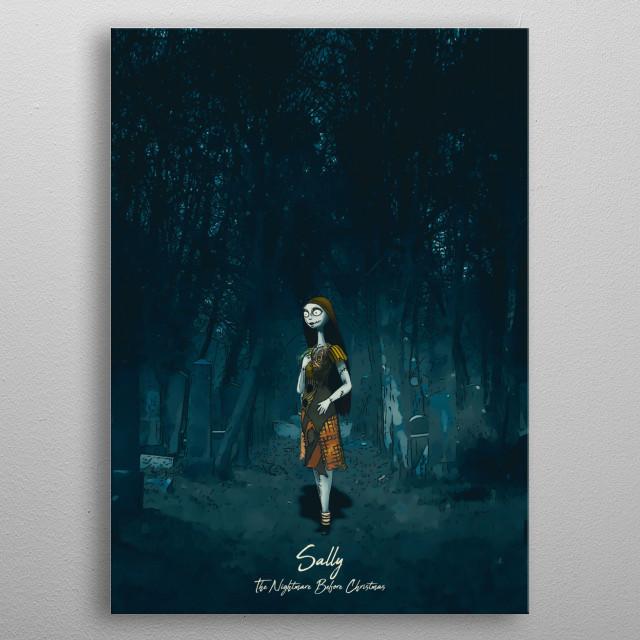 The Nightmare Before Christmas. - Sally metal poster
