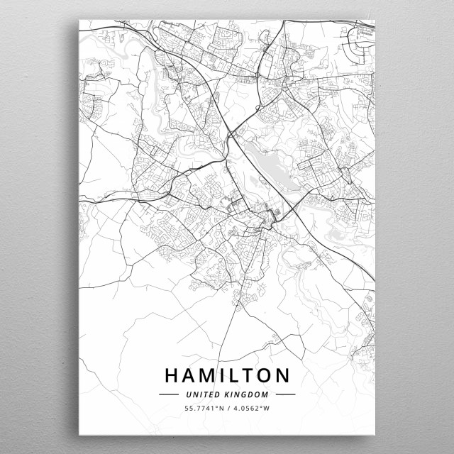 Hamilton, United Kingdom metal poster