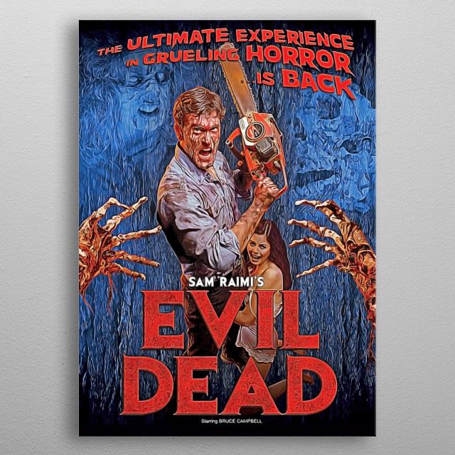 Evil Dead  metal poster