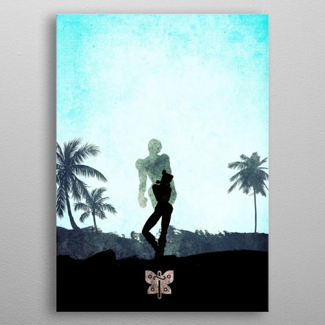 Jojo VI - Stone Ocean metal poster