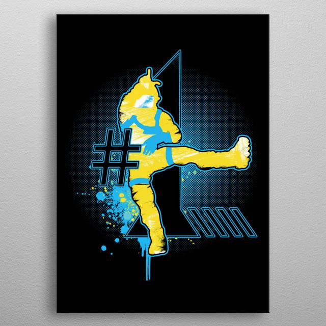 Fornite inspired fan art. metal poster