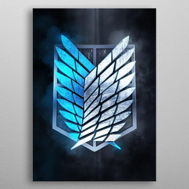 Wings of Freedom metal poster