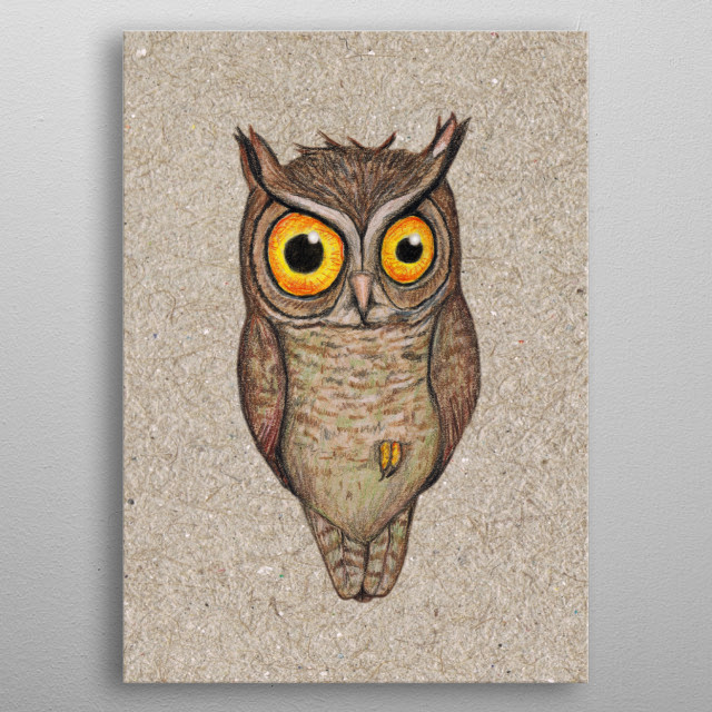 Great Horned Owl Animals Poster Print Metal Posters Displate