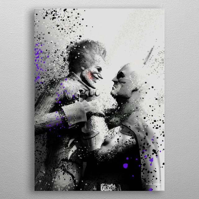 Joker and Batman  metal poster
