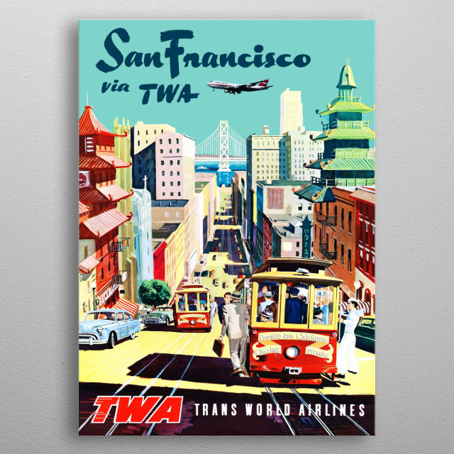 Visit San Francisco metal poster