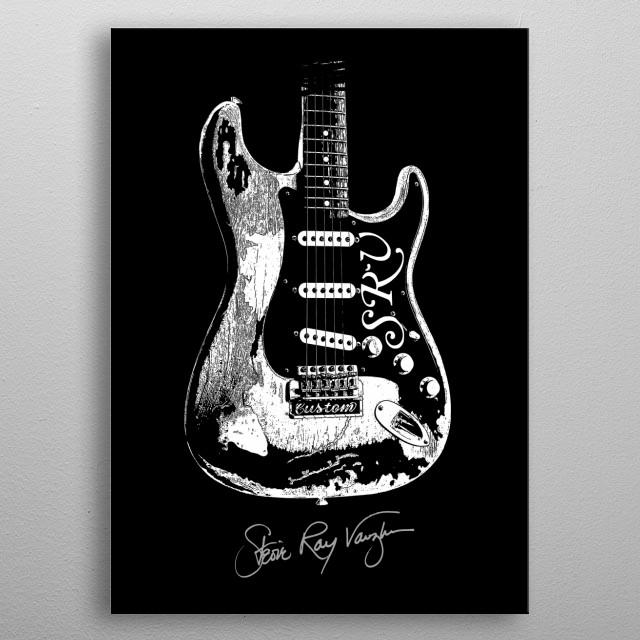 SRV-Stevie Ray Vaughan-Number one - Guitar-Blues-Rock-legend  metal poster