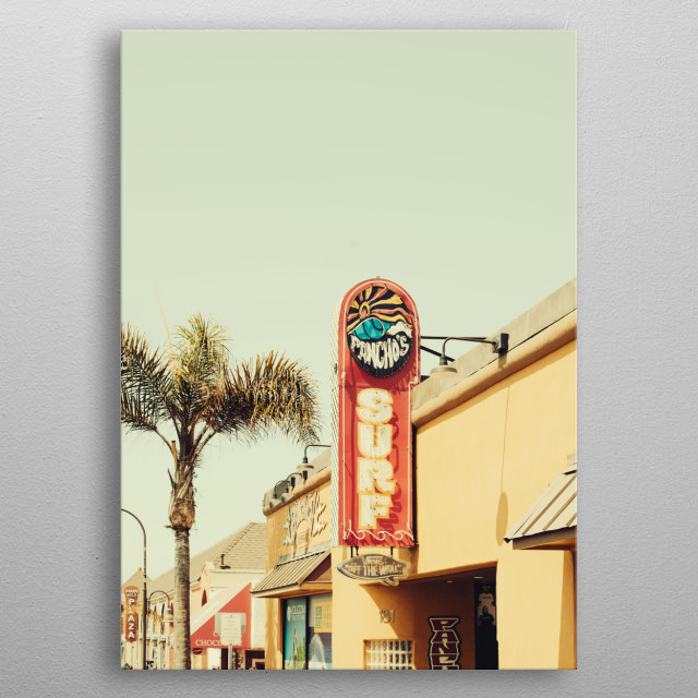Surf Shop in California, USA metal poster
