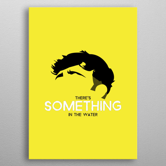 Tom Grennan on yellow with quote from Something in the water. metal poster