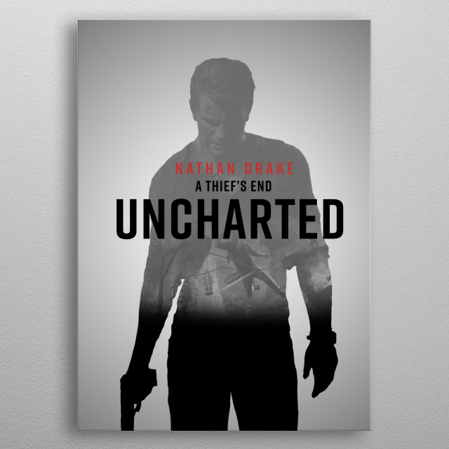 Poster from the video game Uncharted:4 A thief's end metal poster