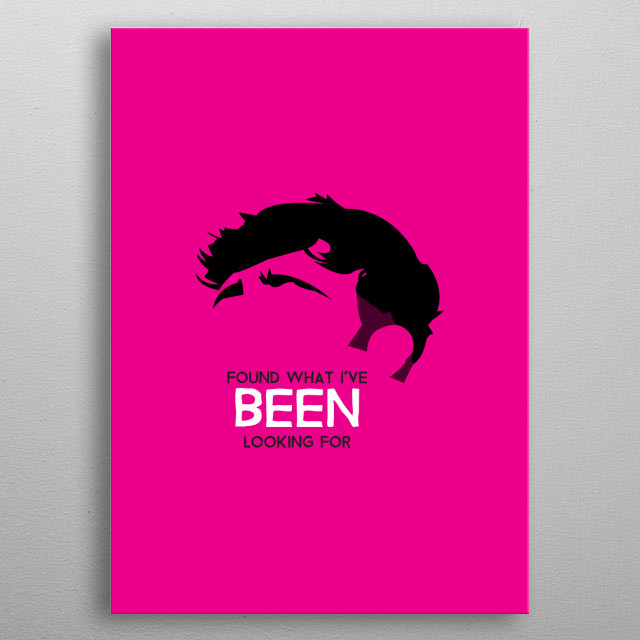 Tom Grennan on Magenta with quote from Found what I've been looking for. metal poster