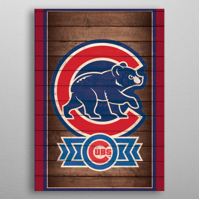 Chicago Cubs Team Design - great gift for fans! metal poster