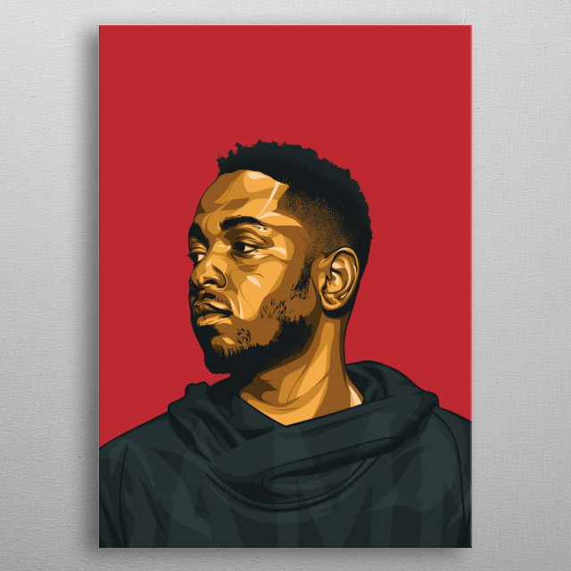 kendrick vector art metal poster