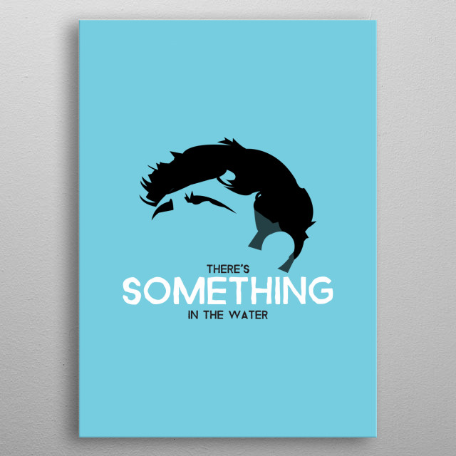 Tom Grennan on Cyan with quote from Something in the water. metal poster