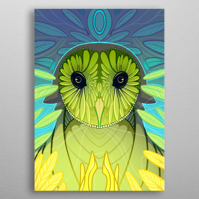 A representation of the earth element and Mother Nature.  metal poster