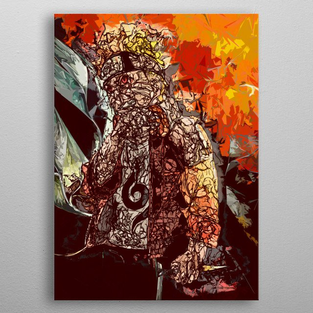 This is my ninja way, famous quote from a famous manga anime series about shinobis. Orange hokage metal poster