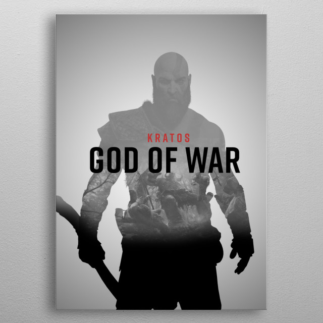 """Poster from the video game """"God of War"""" metal poster"""
