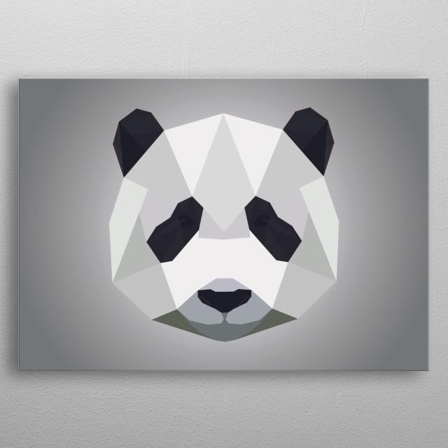 poly panda metal poster