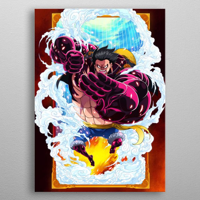 The Boundman. Luffy's 4th gear. Had a wonderful time creating this piece. Hope you all like it. metal poster
