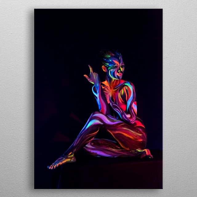 Body Painting Contemporary Art Poster Print Metal Posters