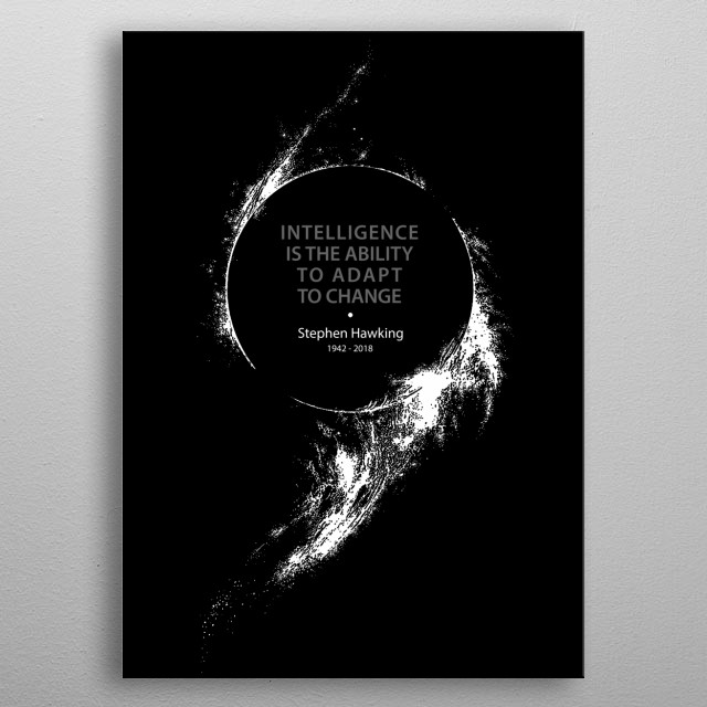Stephen Hawking - Cosmology - Science - Astronomy - Black hole metal poster