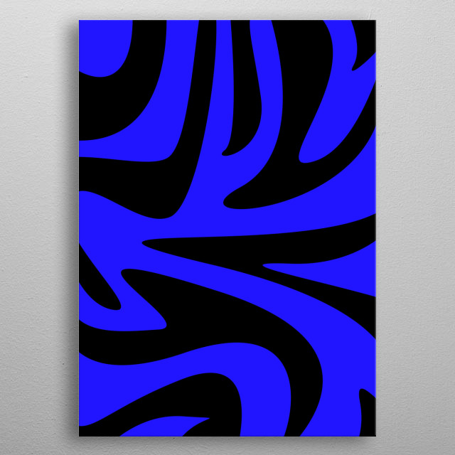 Let the blue energy fill you up. Keep the cool. Keep the breeze. Let everything flow and cry to things you want to cry to. Be the blue. metal poster