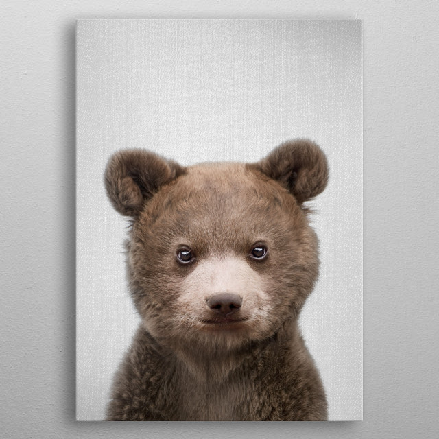 Baby Bear - Colorful. For more colorful animals check out the collection in the main page of my shop Gal Design. metal poster
