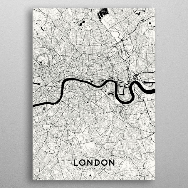 High-quality metal print from amazing Whities Maps collection will bring unique style to your space and will show off your personality. metal poster