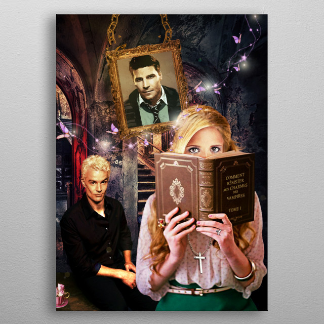 One of my creations on my favorite tv serie ! Buffy the vampire slayer :)  metal poster