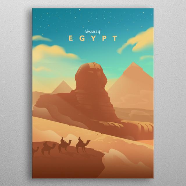 Wonders of Egypt metal poster